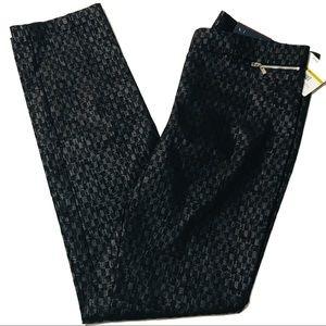 Work career slim leg textured pattern pants plus